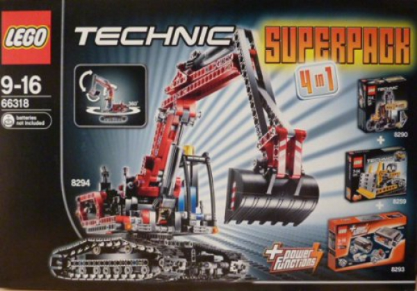 66318 - Technic Super Pack 4 in 1 (8259, 8290, 8293)