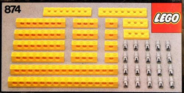 874 - Yellow Beams with Connector Pegs