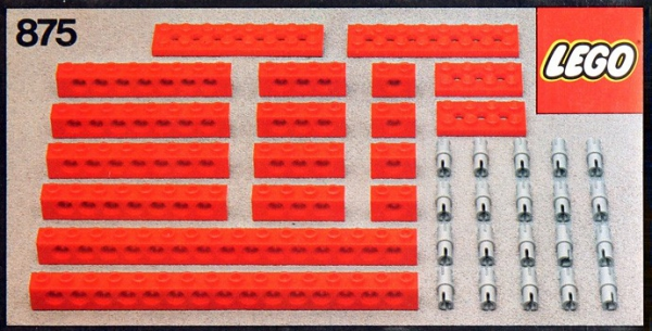 875 - Red Beams with Connector Pegs
