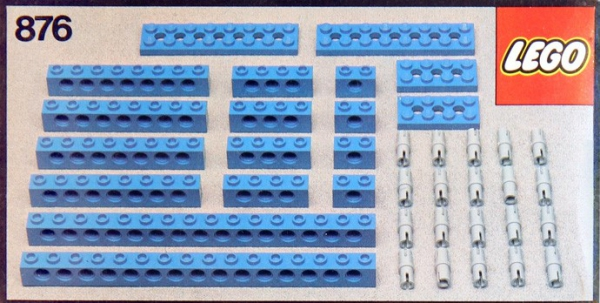 876 - Blue Beams with Connector Pegs